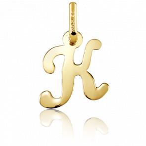 Pendentif lettre K, Or jaune 18 carats - Argyor