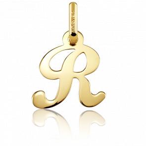 Pendentif lettre R, Or jaune 18 carats - Argyor