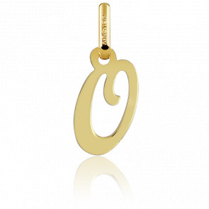 Pendentif lettre O, Or jaune 18 carats - Argyor