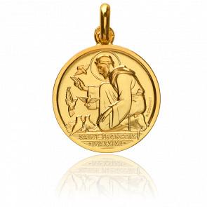 Médaille Saint François d'Assise, Or jaune 18K - Monnaie de Paris
