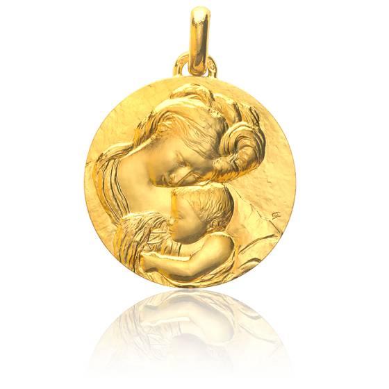 Médaille Madone du Caravage, Or jaune 18K - Monnaie de Paris