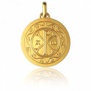 Médaille Chrisme, Or jaune 18K - Monnaie de Paris