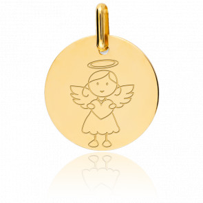 Médaille My Angel Fille, Or jaune 18K - Lucas Lucor