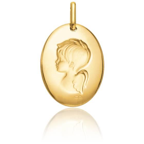 Médaille Angelot, Or jaune 9 ou 18K - Lucas Lucor