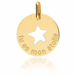 Médaille Mon Etoile, Or jaune 9 ou 18K - Lucas Lucor