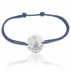 Bracelet Rêveur Nature, Or blanc 9K - La Fée Galipette