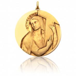 Médaille ronde Sainte Hélène, Or Jaune 18K - Becker