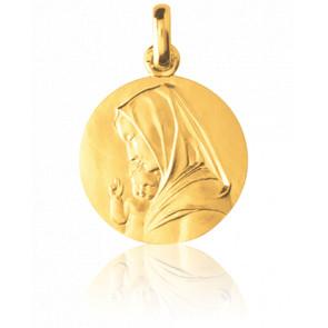 Médaille Vierge à l'Enfant de Coeffin, Or jaune 18K - Monnaie de Paris