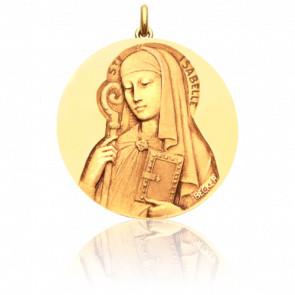 Médaille Sainte Isabelle, Or Jaune 18K - Becker