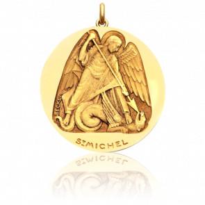 Médaille Saint Michel, Or Jaune 18K - Becker