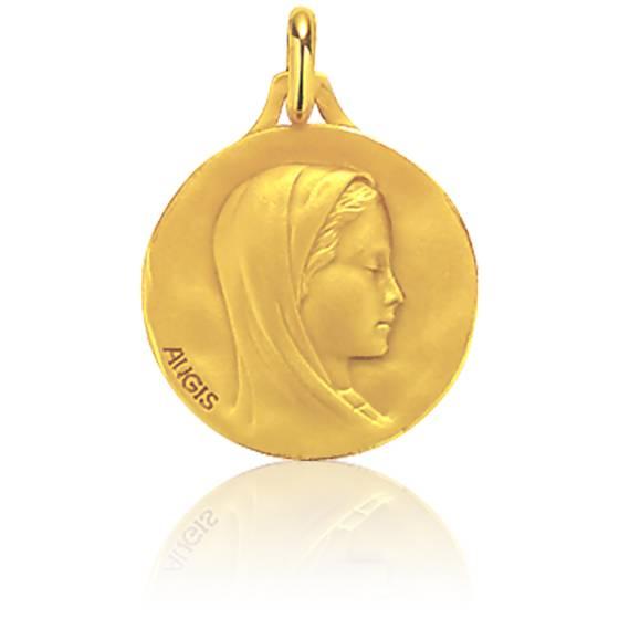 Médaille Vierge de profil, Or jaune 18K - Augis