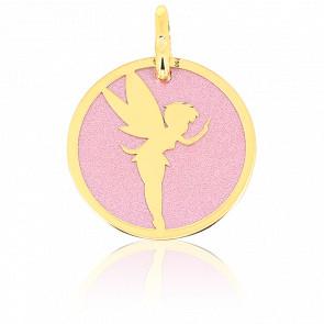 Médaille Fée, Or jaune 18K et Acier rose - Augis