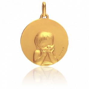 Médaille Chérubin, Or jaune 18K - Augis