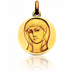 Médaille Vierge Byzantine, Or jaune 18K - Becker