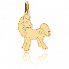Pendentif cheval, Or jaune 18 carats - Lucas Lucor