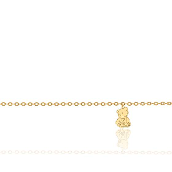 Bracelet breloque Petit Ourson, Or Jaune 18K - Lucas Lucor