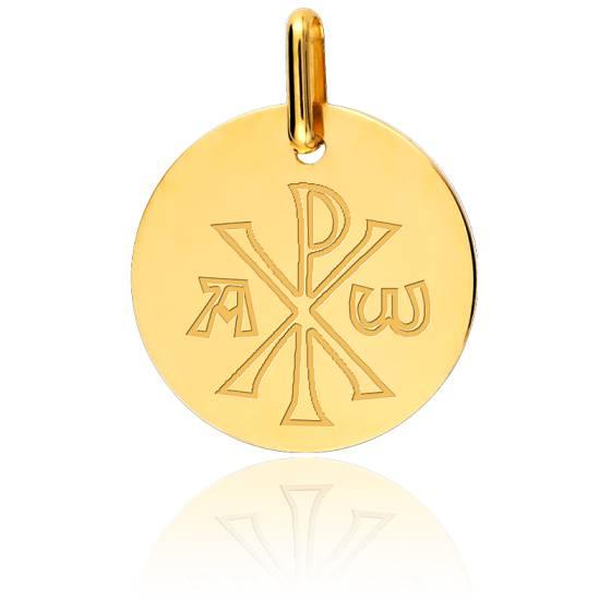 Médaille Chrisme, Or jaune 18 carats - Lucas Lucor
