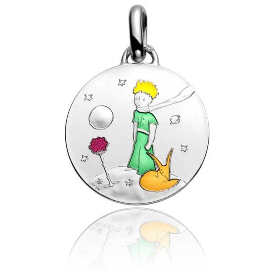 Médaille Petit Prince sur sa planète couleur, Argent - Monnaie de Paris