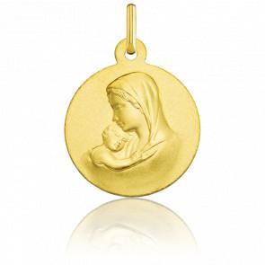 Médaille Vierge à l'Enfant, Or jaune 18 carats - Argyor