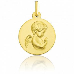 Médaille Ange de profil, Or jaune 18K - Argyor