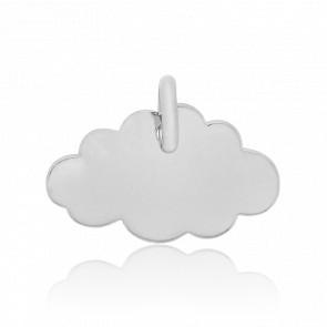 Pendentif nuage, Or blanc 18 carats - Argyor