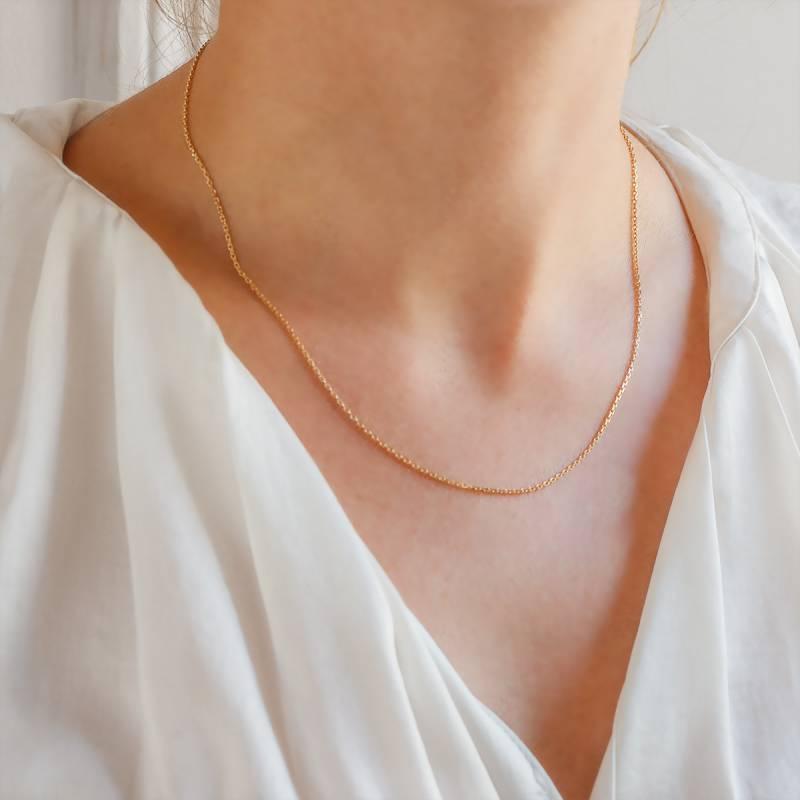 vraiment à l'aise produits de commodité taille 40 Chaîne maille forçat diamantée, Or jaune 18 carats, 60 cm