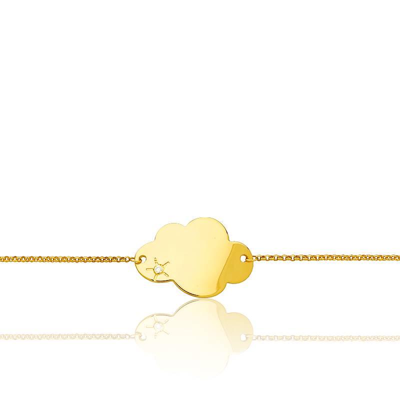 Favori Gourmette bébé Or jaune 9 ou 18 carats - Médaille Précieuse WE77