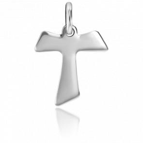 Croix de Saint Antoine, Or Blanc 18K - Stella Millano