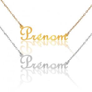 Collier Prénom Or jaune ou blanc, 9 ou 18 carats