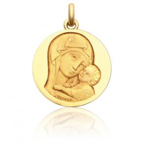 Médaille Notre Dame de Tendresse, Or jaune 18K - Becker
