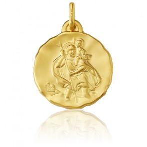 Médaille Ronde Saint Christophe, Or Jaune 9K - Argyor
