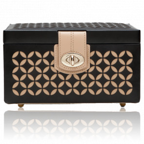 Boite à Bijoux Chloé Cuir Noir, Small Box - Wolf 1834