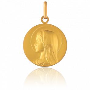 Médaille Vierge Jeune Auréolée, Or jaune 18K - Pichard-Balme