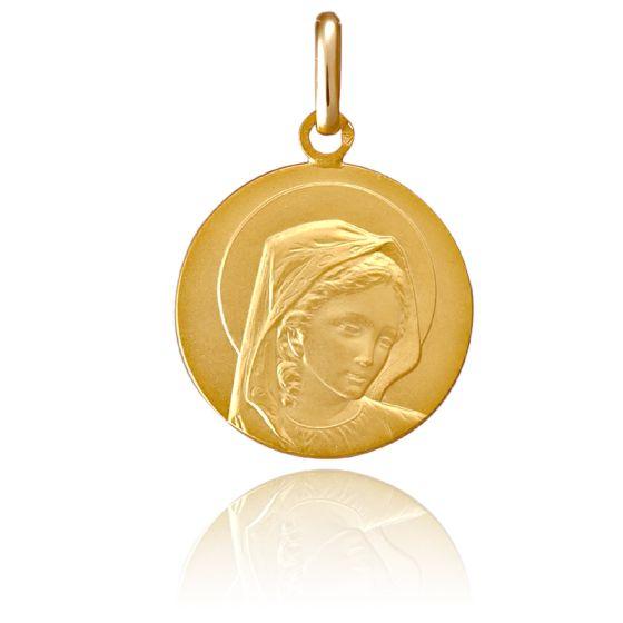 Médaille Vierge de Trois Quarts, Or jaune 18K - Pichard-Balme