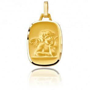 Médaille Ange  Bord Brillant, Or jaune 18K - Pichard-Balme