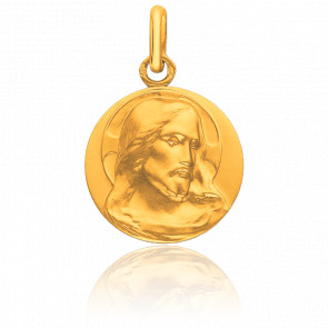 Médaille Christ de Face, Or jaune 9K - Pichard-Balme