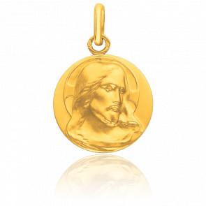Médaille Visage Christ de Face, Or jaune 18K - Pichard-Balme