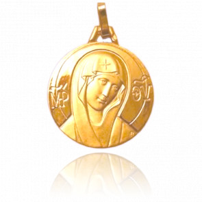 Médaille Vierge Icône, Or jaune 18k - Pichard-Balme