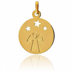Médaille Ange Aux Trois Etoiles, Or jaune 9K - Pichard-Balme