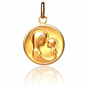 Médaille Maternité Stylisée, Or jaune 18K - Pichard-Balme