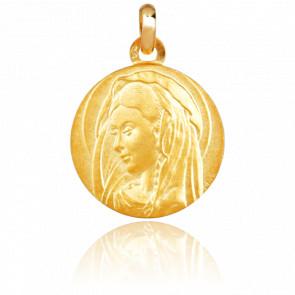 Médaille Vierge Italienne, Or jaune 18K - Emanessence