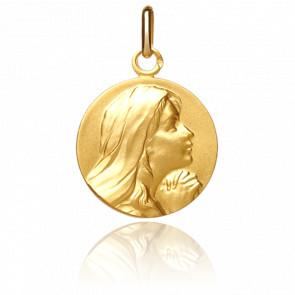 Médaille Vierge mains jointes, Or jaune 18K - Pichard-Balme