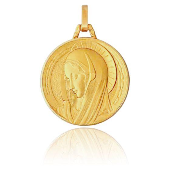 Médaille Vierge Renaissance, Or jaune 18K - Pichard-Balme