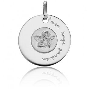 Médaille Mon Ange Gardien, Or blanc 18K - Pichard-Balme