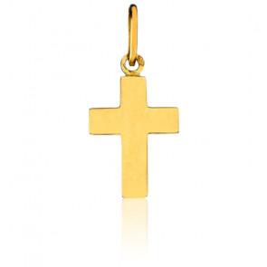Petite Croix Plate, Or jaune 18K - Pichard-Balme