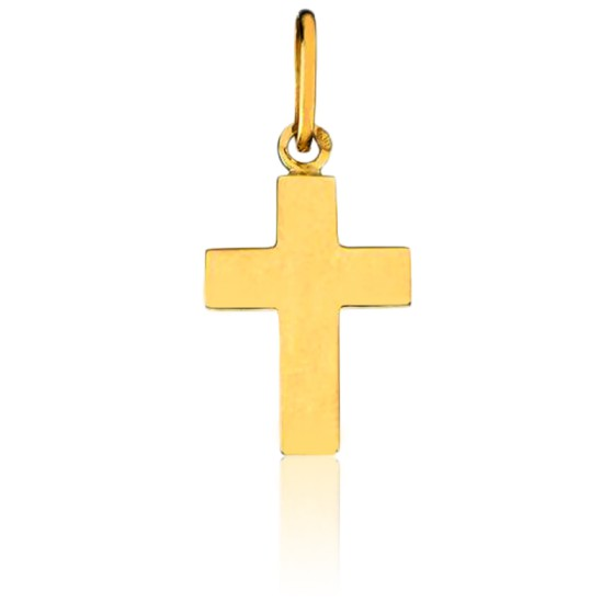 Pendentif croix petit modèle, Or jaune 18K - Pichard Balme