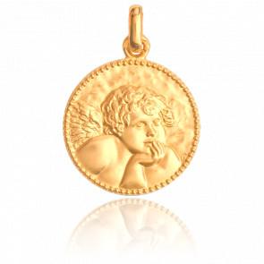 Médaille Ange Raphaël, bord perlé, Or jaune 18K - Monnaie de Paris