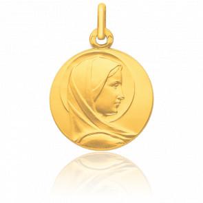 Médaille Vierge Profil Auréolée, Or jaune 9K - Pichard-Balme