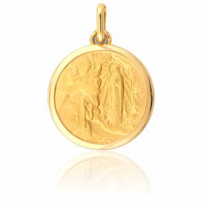 Médaille Sainte Bernadette à Lourdes, Or Jaune 18K - Lucas Lucor