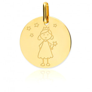 Médaille Fée étoilée, Or jaune 18K - Lucas Lucor